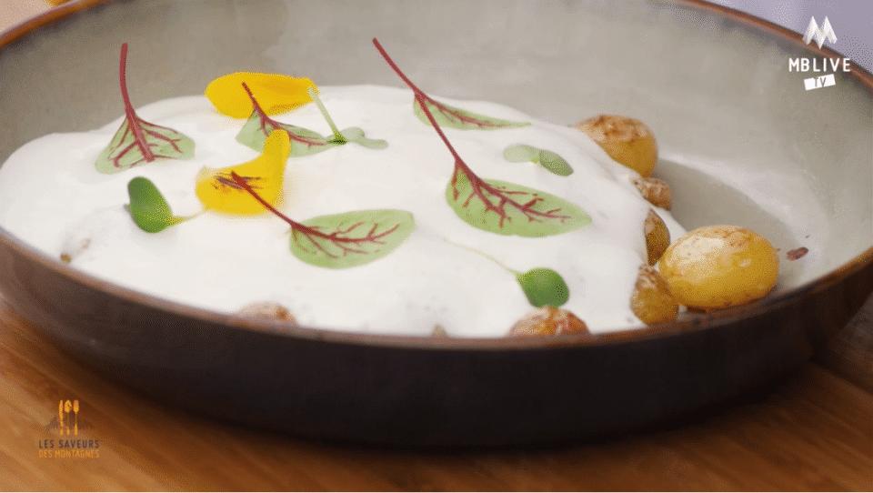 Pochat & fils cuisine une mousse de Reblochon AOP avec le chef Cédric Mouthon