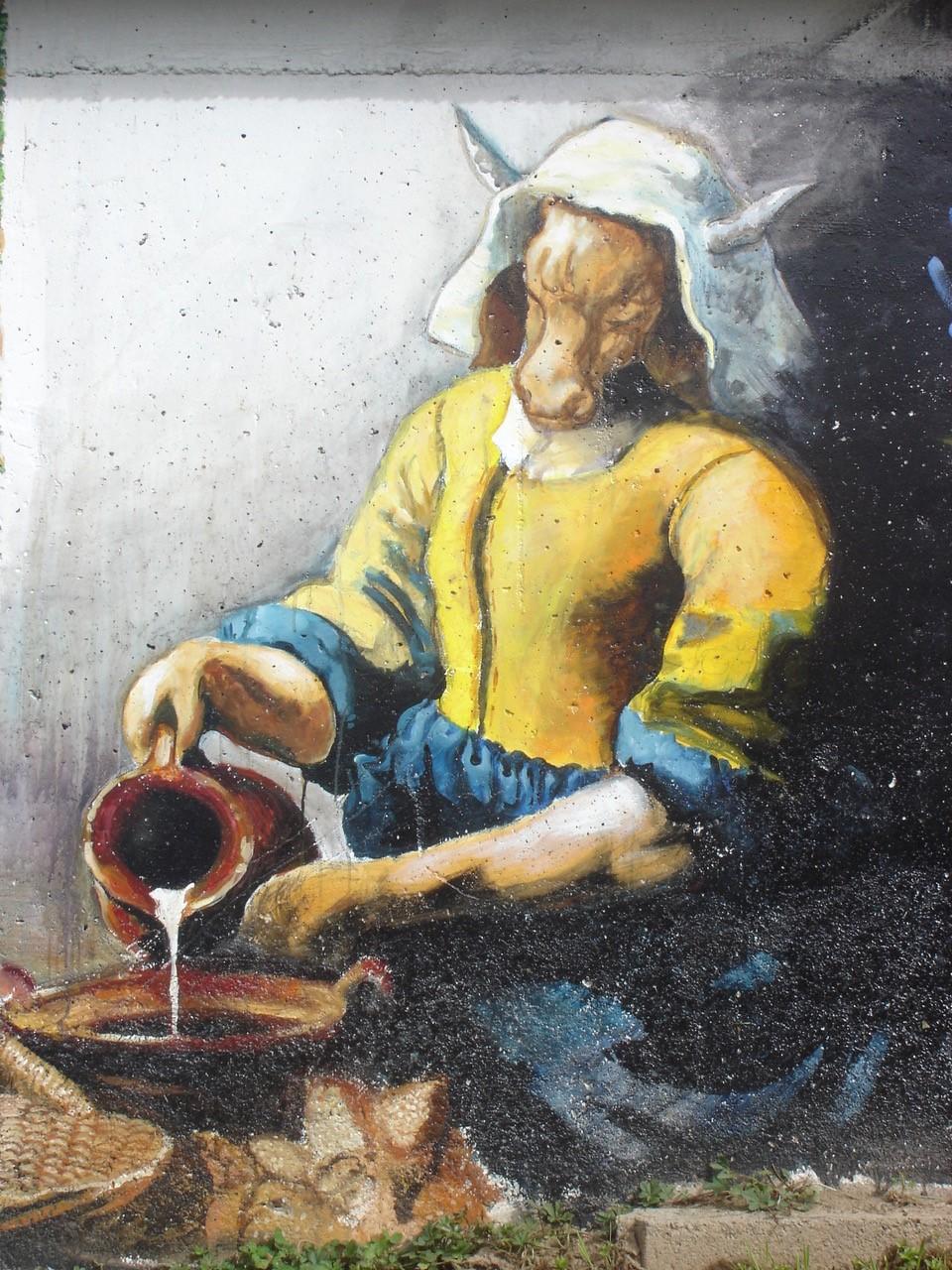 La laitière vache Grand-Bornand Pochat